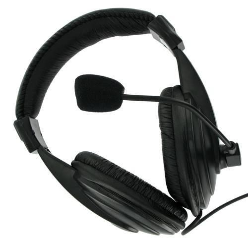 4World Słuchawki stereo z wygodnymi nausznikami i mikrofonem 3m czarne 04165