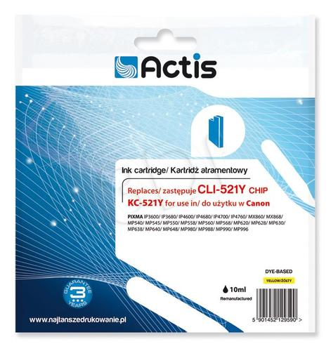 Actis KC-521Y tusz żółty do drukarki Canon (zamiennik Canon CLI-521Y) Supreme