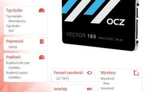 OCZ Vector 180 120GB SATA3 2,5' 550/450 MB/s 7mm