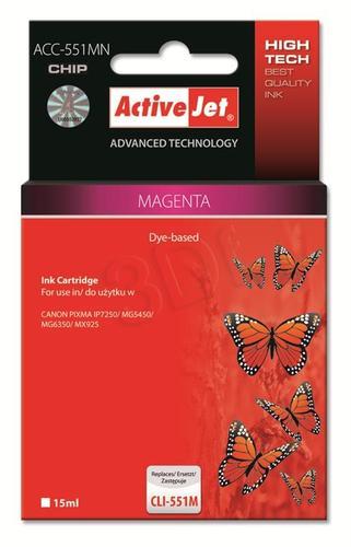 ActiveJet ACC-551MN tusz magenta do drukarki Canon (zamiennik Canon CLI-551M) Supreme/ chip