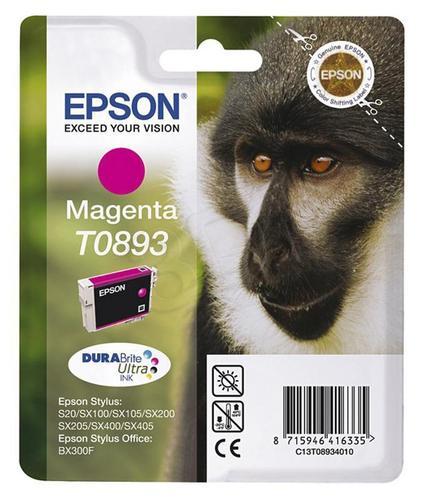EPSON Tusz Czerwony T0893=C13T08934011, 3.5 ml
