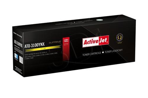 ActiveJet ATO-3100YNX żółty toner do drukarki laserowej OKI (zamiennik 42127405) Supreme
