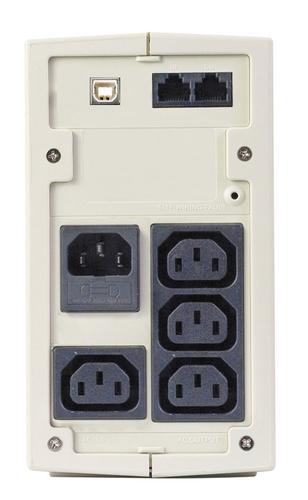 Lestar UPS MD-525 525VA/300W AVR 3xIEC + 1xIEC PRINTER USB RJ11 GR