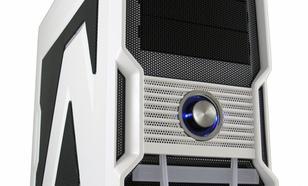"""LC-Power OBUDOWA CASE-PRO-973W """"FORTRESS X"""" MIDITOWER FRONT 2X USB 3.0 1X USB 2.0 HD-AUDIO BEZNARZEDZIOWA HDD STACJA DOKUJACA BIALA SIATKA"""