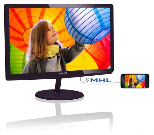 Philips 21.5'' 227E6QDSD LED IPS-ADS DVI HDMI MHL Czarny