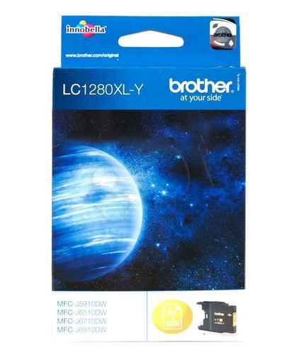BROTHER Tusz Żółty LC1280XLY=LC-1280XLY, 1200 str.