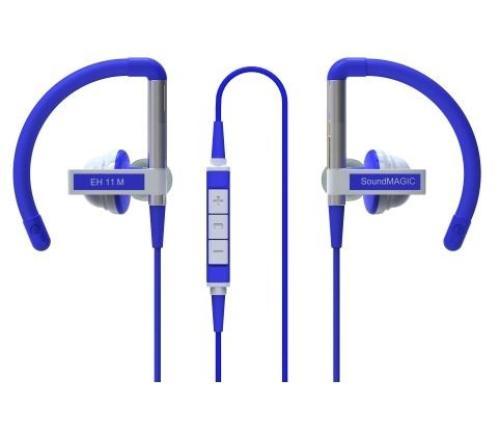 SoundMAGIC EH11M niebieskie, sportowe z mikrofonem i pilotem
