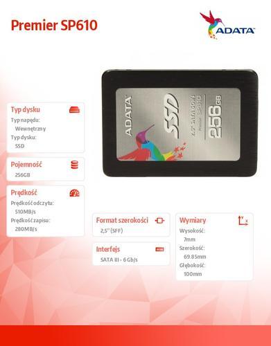 A-Data SSD Premier SP610 256GB 2.5'' SATA3 SMI Sync 560/290 MB/s