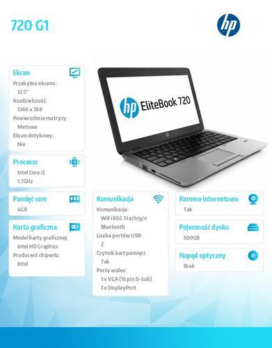 HP 720 G1 i3-4030U W78P 500/4G/12,5 J8Q80EA