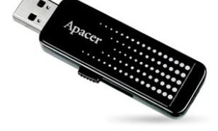 Apacer Flash Drive AH323 16GB USB 2.0 Black