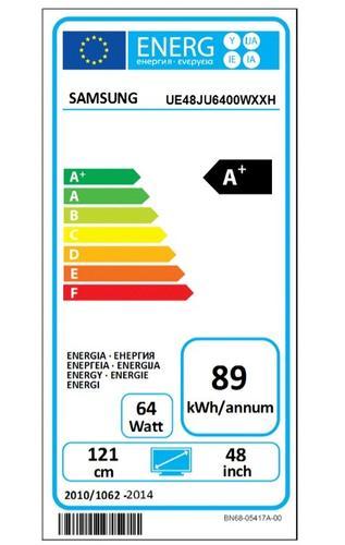 "Samsung 48"" TV Slim LED Ultra HD UE48JU6400WXXH"