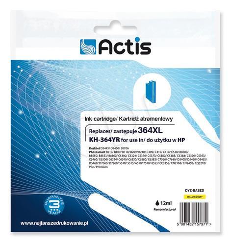 Actis KH-364YR tusz żółty do drukarki HP (zamiennik HP 364XL CB325EE) Standard