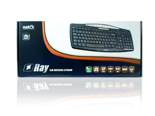 NATEC Klawiatura Multimedialna Ray Slim Black USB