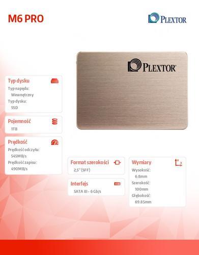 Plextor PLEXTOR SSD 1T GB 2,5'' SATA M6P PX-1TM6Pro