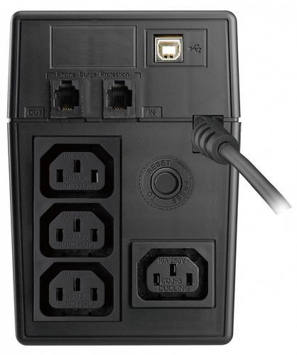Lestar UPS SIN-830E SINUS LCD 4xIEC USB RJ11 BL