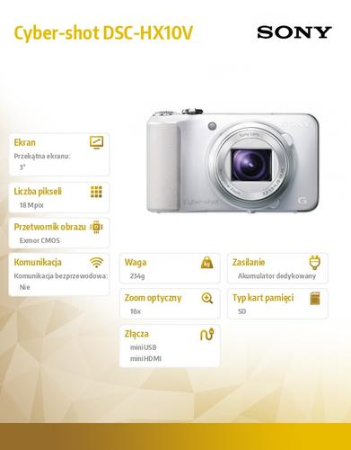 Sony Cyber-shot DSC-HX10V biały